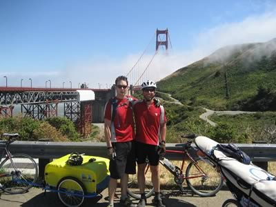 Golden Gate bike/surf backdrop