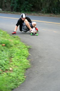 Comet Skateboards - JM Duran charging downhill